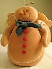 """Ginderbread Man Angel Plush w Wings & Halo By Terry""""s Village 13.5"""" tall"""