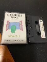 GENESIS DUKE Turn It On Again Michael 689 Cassette Tape Rare