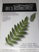 "DEE'S DISTINCTIVELY DIES - ""LG.GREEN LEAF LEFT"" IME040 FOR  CARDS & SCRAPBOOKING"