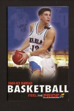 Kansas Jayhawks--2001-02 Basketball Pocket Schedule--Junior Jayhawks