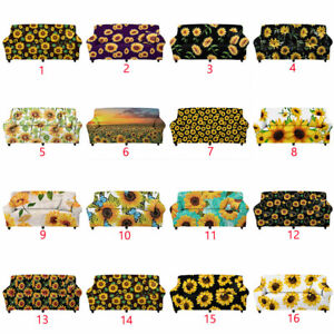 Sunflowers Sofa Covers Couch Slipcover Elastic Protector Settee Seater Covers