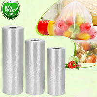350 Bags / Roll Clear Plastic Produce Bags On Roll Kitchen Food Storage Fruit