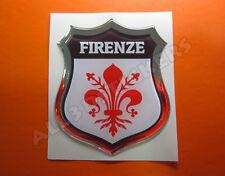 Pegatina Emblema 3D Relieve Bandera Florencia - Todas las Banderas del MUNDO