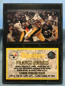 FRANCO HARRIS  PITTSBURGH STEELERS  SUBLIMATION PHOTO PLAQUE