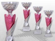 3er Pokalserie PINK Pokale mit Gravur MÄDCHEN FRAUEN DAMEN Pokale ROSA kaufen