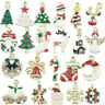 10X XMS Enamel Charm Christmas Tree/Snowman/Santa Claus/Moon Beads Pendant