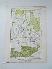 W.WICKHAM-LANGLEY PARK-LONDON STREET MAP 12x7.25 INCHES DATED 1936 VGC.