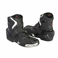 Motorbike Short Style Ankle Motorcycle Leather Boots - Multi Colours Racing New
