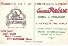 BUVARD 136122 CAVES STE MARGUERITE LIMONE-SODA ORANGE AFRIQUE DU NORD..*02