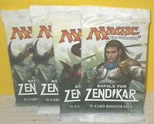 Magic the Gathering: BATTLE FOR ZENDIKAR (4) Booster Packs {Lot B} Brand New!!!