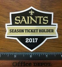 NEW ORLEANS SAINTS 2017 SEASON TICKET HOLDER STICKER STH