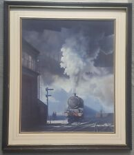IFOR PRITCHARD 1940-2010 original signed gouache painting Steam Locomotive 5712