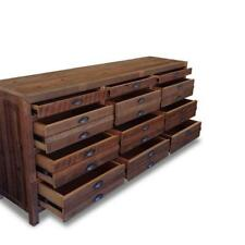 Rustic Recycled Solid Timber Sideboard Buffet Dresser Storage Cabinet in Walnut