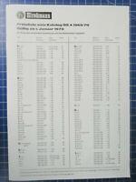Hirschmann Preisliste zum Katalog 1.Januar 1970 Informationsblatt H2997