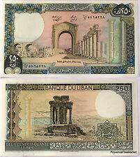 LIBAN Billet neuf de 250 LIVRES Pick67 RUINES DE TYRAS  tres grand format