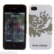 CUSTODIA CASE COVER IPHONE 4 4S BIANCA IN POLICARBONATO RIGIDA - LION MALOSSI