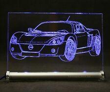 Opel Speedster als  AutoGravur auf LED-Schild  Roadster
