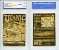 1912 TITANIC Largest Liner 23KT Gold Card Sculpted Graded GEM MINT 10 * BOGO *
