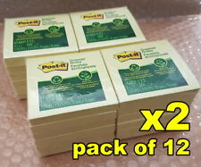 Post-it Greener Recycled Notes 76 x 76mm Yellow 12 Pack