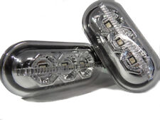 Pair LED Side Repeater Indicator Blinkers Chrome For Vauxhall Vivaro X83 01-15