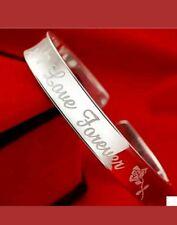 925 stamped silver bangle bracelet friend unisex anniversary birthday lover gift