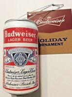 Kurt Adler 2017 Budweiser Beer Can Christmas Holiday Ornament