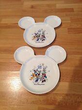 2 Vtg. Japan Tokyo Disney Resort Mickey Mouse Ears Melamine Plates Dishes White