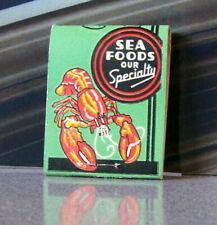 Rare Vintage Matchbook W9 Circa 1940 Washington Seattle Don's Pike St Sea Food