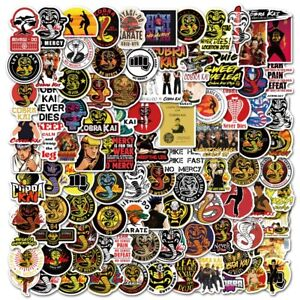 100 Cobra Kai Strike First Strike Hard No Mercy Stickers Karate Kid Movie
