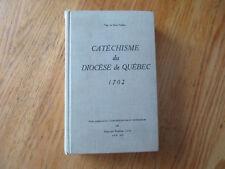 Catéchisme du diocèse de Québec 1702 Mgr Saint-Vallier