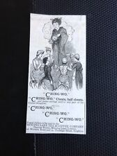 K1-8 Ephemera Advert 1885 Ching Wo Chests Mincing Lane Tea & Coffee Company