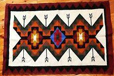 Ecuador Wandbehang 86x126cm,Teppich Vorleger Schafwolle, Inka Muster geometrisch