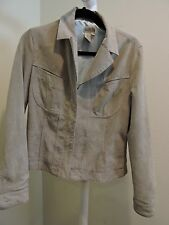 Georgiou Studio 100% Leather Light Green Lined Fully Zippered Jacket - Size - 8
