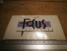 retro sticker FOCUS TELEVISIE - OMROEP MEDIA STEREO BROADCAST autocollant R6