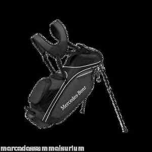 Mercedes Benz Original Golf Standing Bag with Rain Cover Black New Packaging
