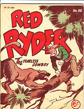 "Red Ryder No 58-1950's - Australian - ""Cougar Attack Cover!  """