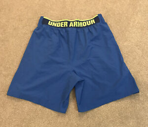Mens UNDER ARMOUR Gym/Running Shorts Blue Size Large-VERY GOOD CONDITION