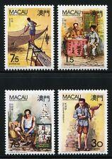 Macau Macao 1990 Berufe II Musiker Schuhmacher Schreiber Fischer 640-43 MNH