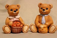Home Interior Pair Of Porcelain Figures #1405 Bears Excellent Condition!