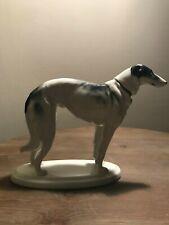 Heinrich Graeser Porcelain Borsoi Greyhound Whippet Dog Figurine