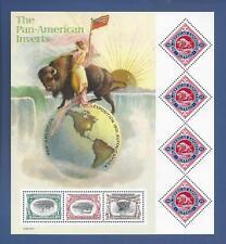 SCOTT #3505...PAN-AMERICAN INVERTS...PANE OF 7 (1c, 2c, 4c & 80c) STAMPS...MNH