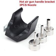 Hot Air Gun Handle Bracket + 3pc Nozzle For QUICK ATTEN 858D 858 868D 878D 898D