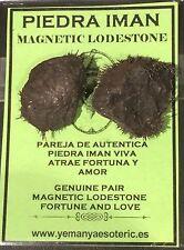 GENUINE PAIR MAGNETIC LODESTONE • FORTUNE & LOVE - PIEDRA IMAN PAREJA VIVA