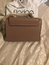 FLORIAN LONDON WOMEN'S LEATHER FLOWER MINI VIENNA WHITE BAG