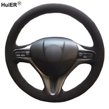 DIY Suede Car Steering Wheel Cover For Honda Fit City Jazz 2009-2013 Insight