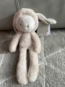 """Mamas & Papas My First Bunny Rabbit 13"""" Soft Toy Comforter With Hood."""