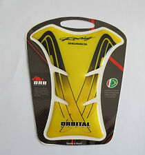 "ORBITAL TANK PROTECTOR PAD - SMALL HONDA RACING - YELLOW/BLACK - 4.84"" x 5.56"""