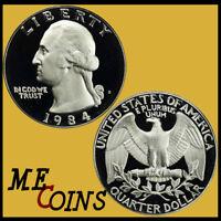 1984-S PROOF Washington Quarter Dollar , Deep Cameo , US Coin !