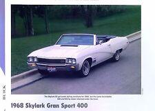 1968 Buick Skylark Convertible Gran Sport GS 400 ci 340 hp info/specs/photo 11x8