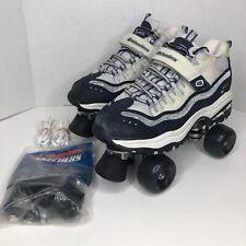 Skechers 4 Wheelers Sneakers Roller Skates Size 8.5 Women's Blue Sparkle